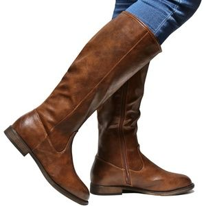 New Brown Western Knee High Riding Boots